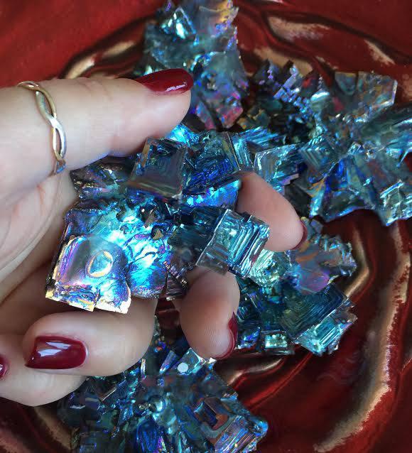 Bismuth Flower Metalloid Specimen - Harnessed energy