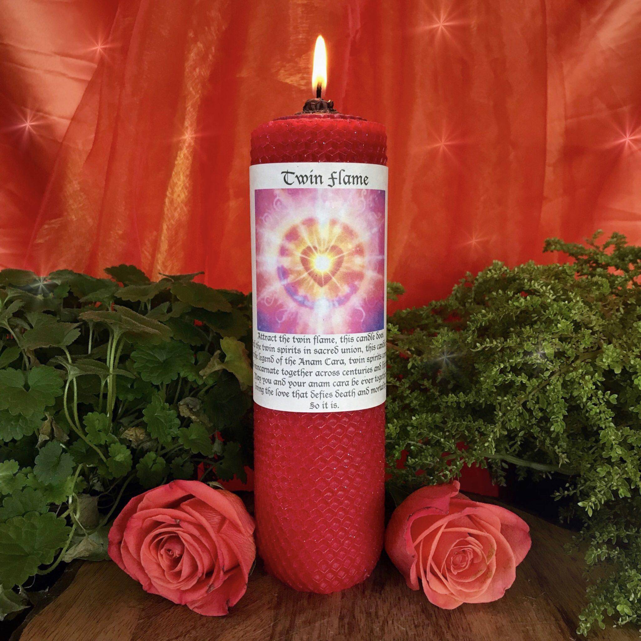 Divine Love Candle Trio for calling in your Twin Flame and heart opening