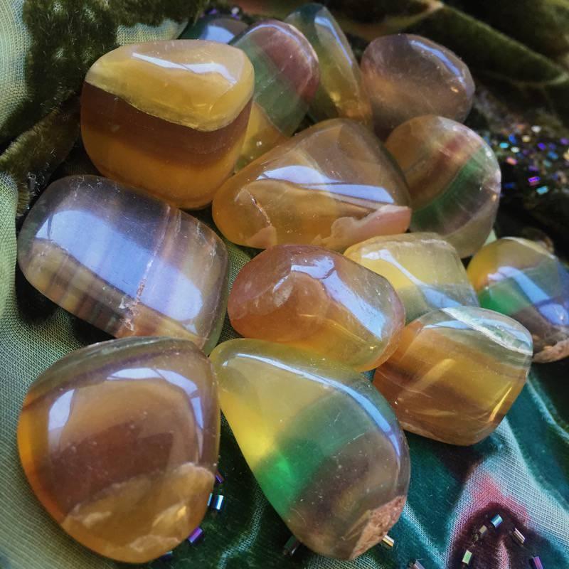 Tumbled Rainbow Fluorite