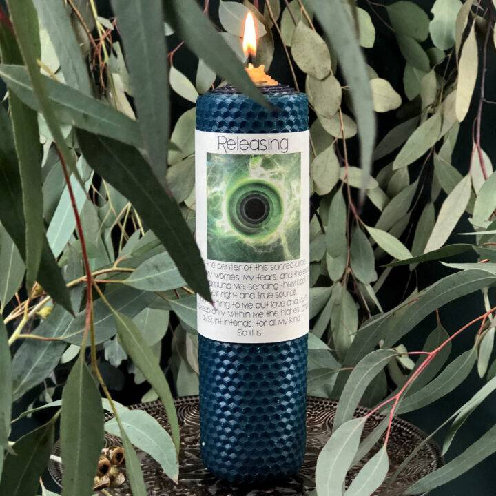 Releasing Beeswax Intention Candle