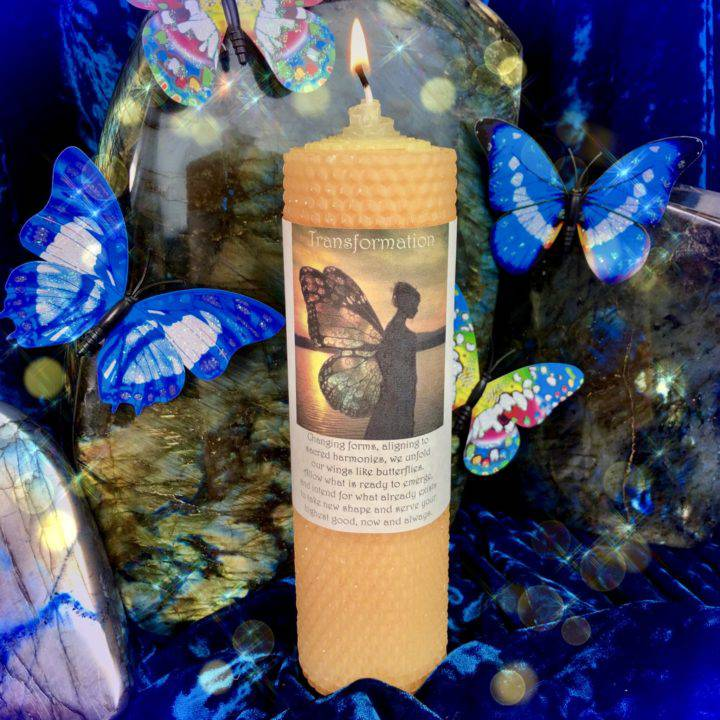 Transformation Beeswax Intention Candle
