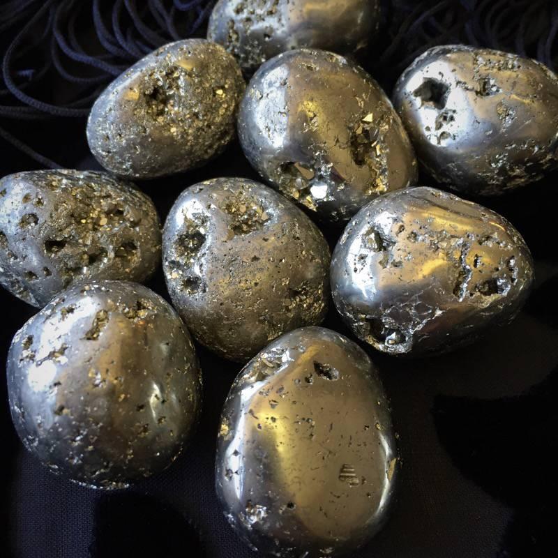 Tumbled Pyrite to generate abundance