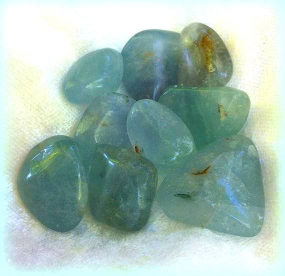 Tumbled Teal Blue Fluorite - The Stone of Clear Sight - Gaining perspective & Developing psychic ability