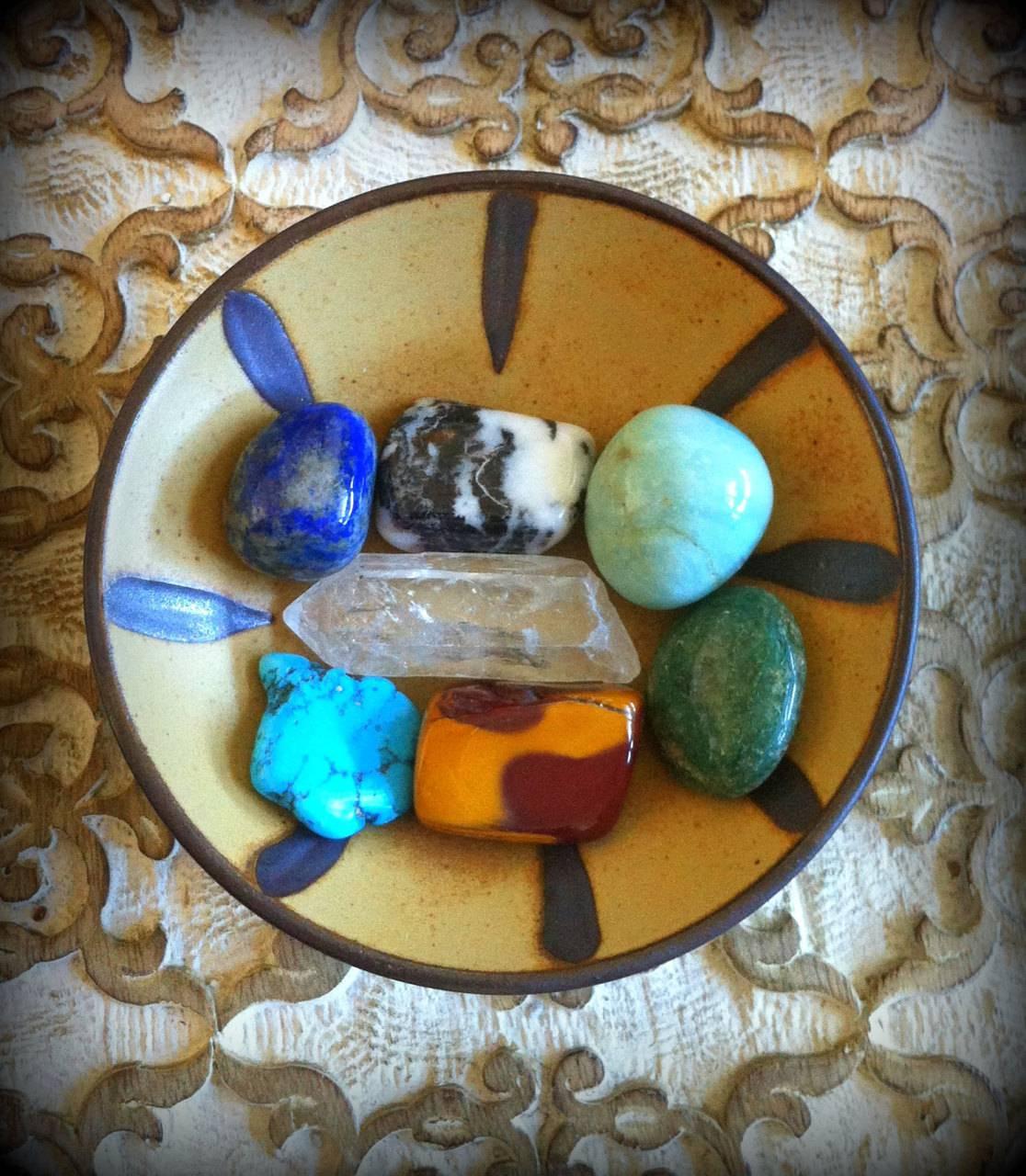 Wild Woman gemstone set for summoning and celebrating your feminine power