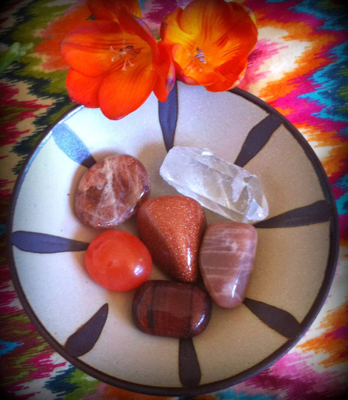 Sacral Chakra gemstone set for healing soul issues around sex and sexuality