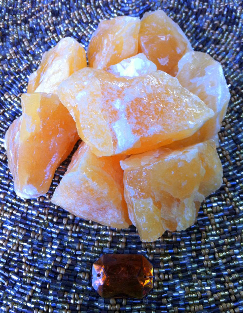 Medium Orange Calcite stones - Boosting sex drive