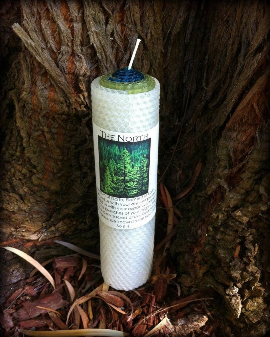 NORTH Directional Candle for holding the Direction of North & Element of Earth in magickal work