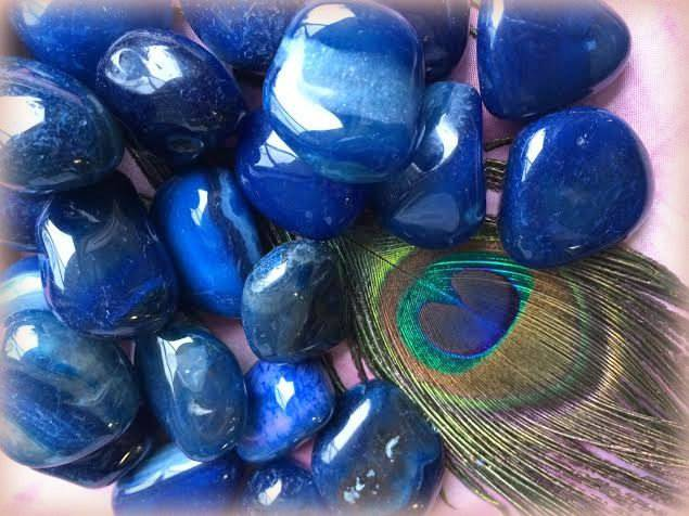 Tumbled Indigo Agate - The Priestessing Stone for Third Eye Awakening