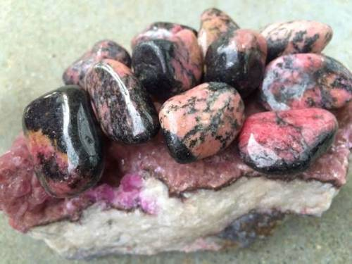 Tumbled Rhodonite - The best gem for heart healing and forgiveness of self and others - Heart chakra