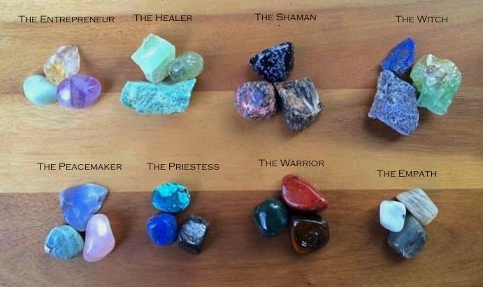 The Archetypes Gem Trio Sets: Using stones to support your work and identity