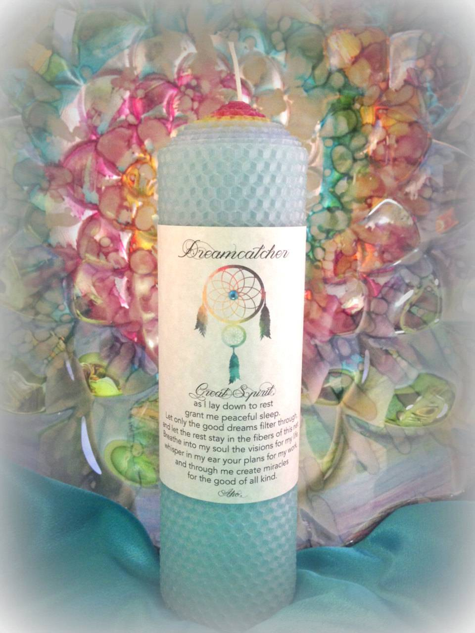 DREAMCATCHER candle - To keep at your bedside for peaceful sleep and protection while dreaming