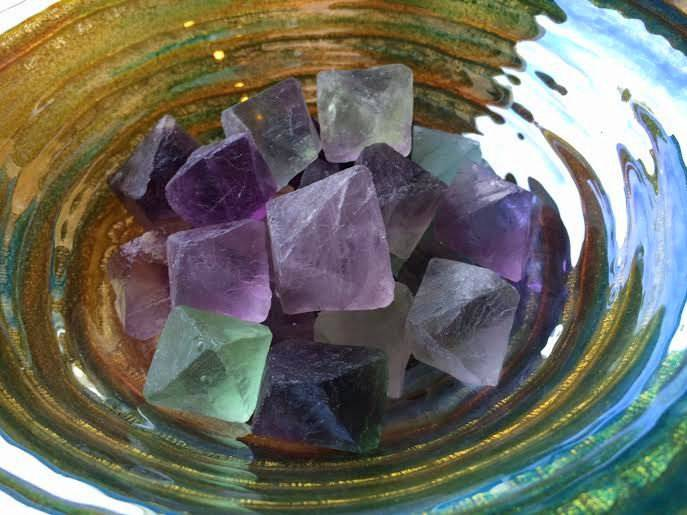 Fluorite Octahedron - The Flow and Pathing stone for air magic & abundance