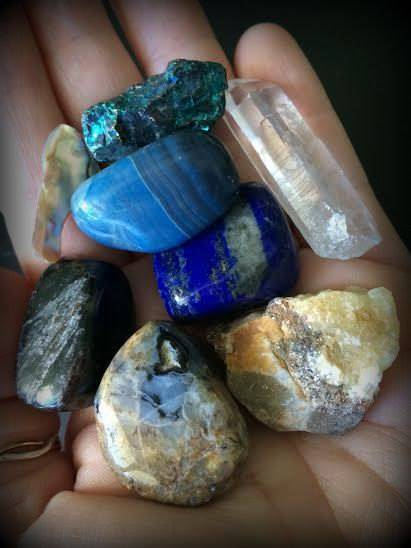 High Priestess gemstone set for holding sacred space and performing ritual