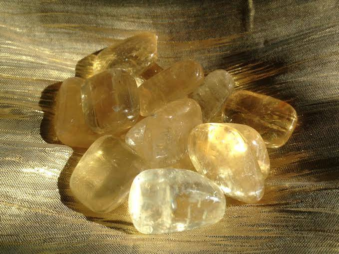 Tumbled Yellow Calcite stones - The Eliminator Stone for releasing and allowing