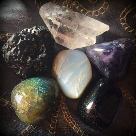 Stones of the New Moon gem set for new moon magic
