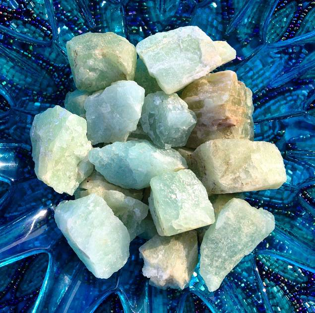Gem Rough aquamarine - March birthstone