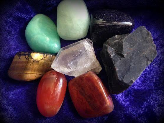 COURAGE gemstone set for bravery