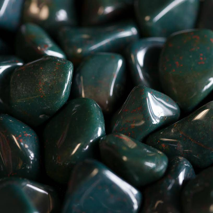 tumbled bloodstone