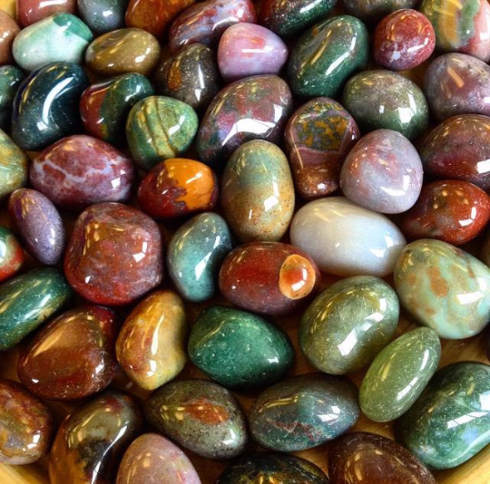 Tumbled Fancy Jasper Stone Of Gentleness And Relaxation Sage