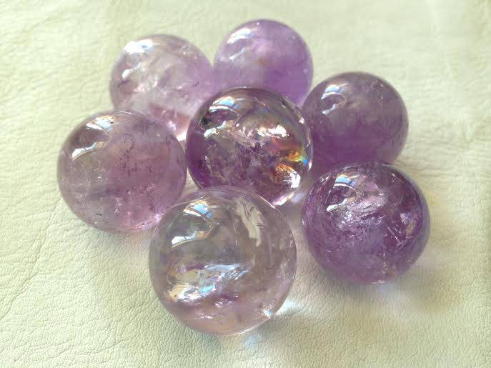 Amethyst Mini Spheres - Gemstone of Self-Control and Peace