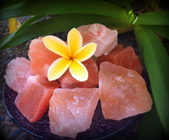 Himalayan Salt Chunks to purify the air in your sacred space