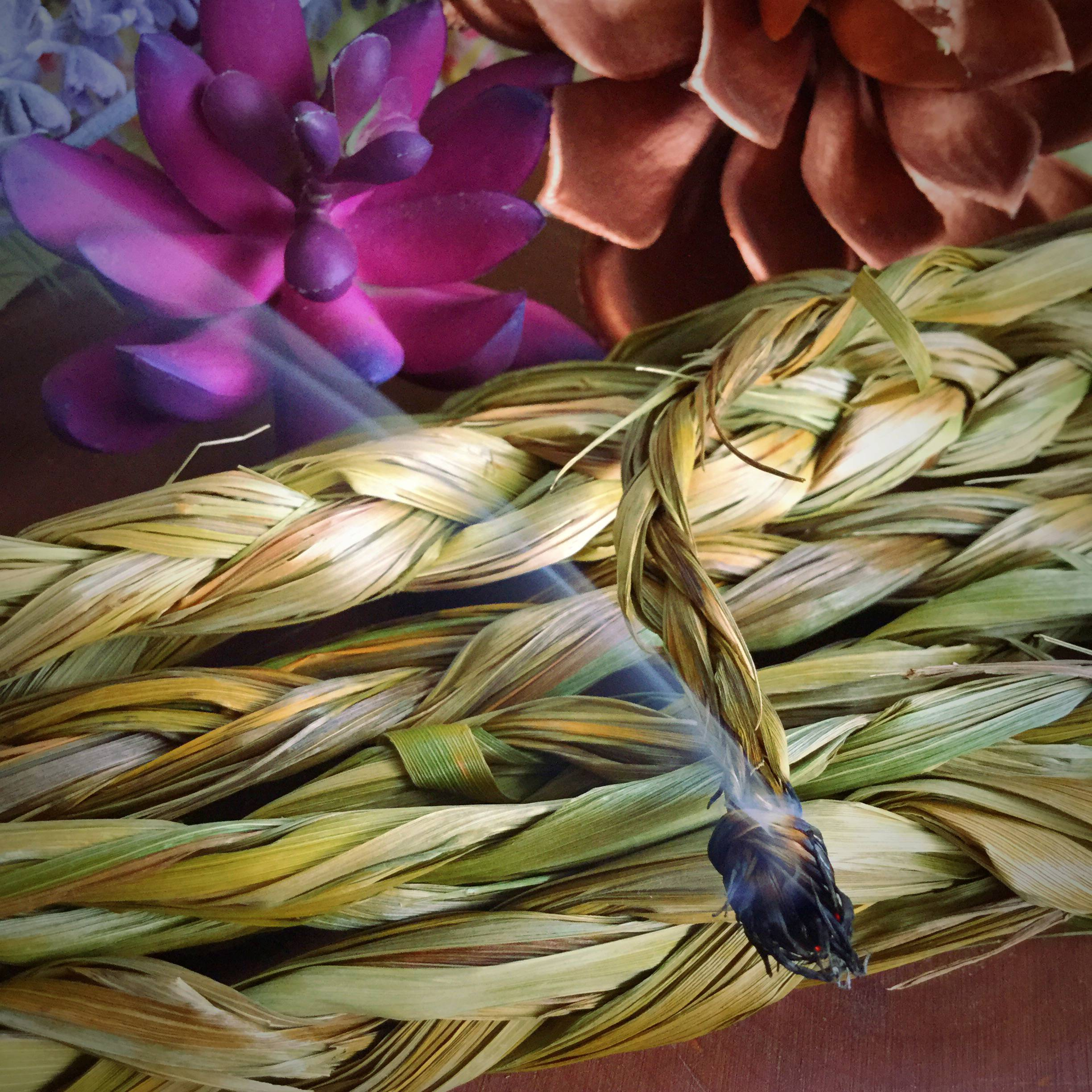 Sweetgrass Smudging Braids