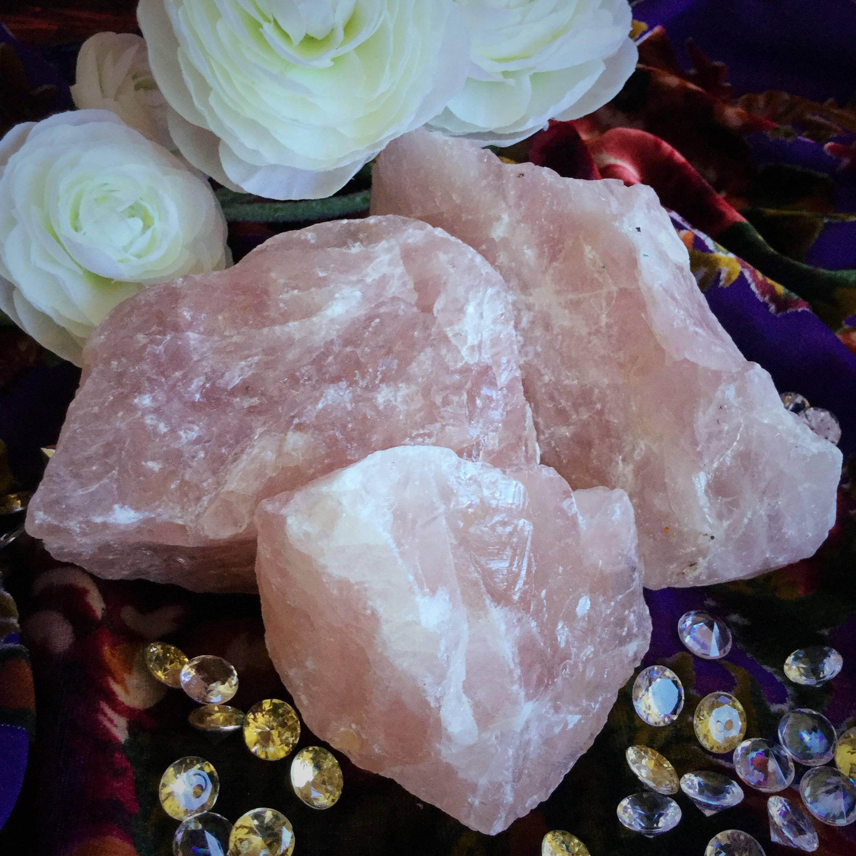 Huge Natural Rose Quartz Crystals For An Abundance Of Love Energies