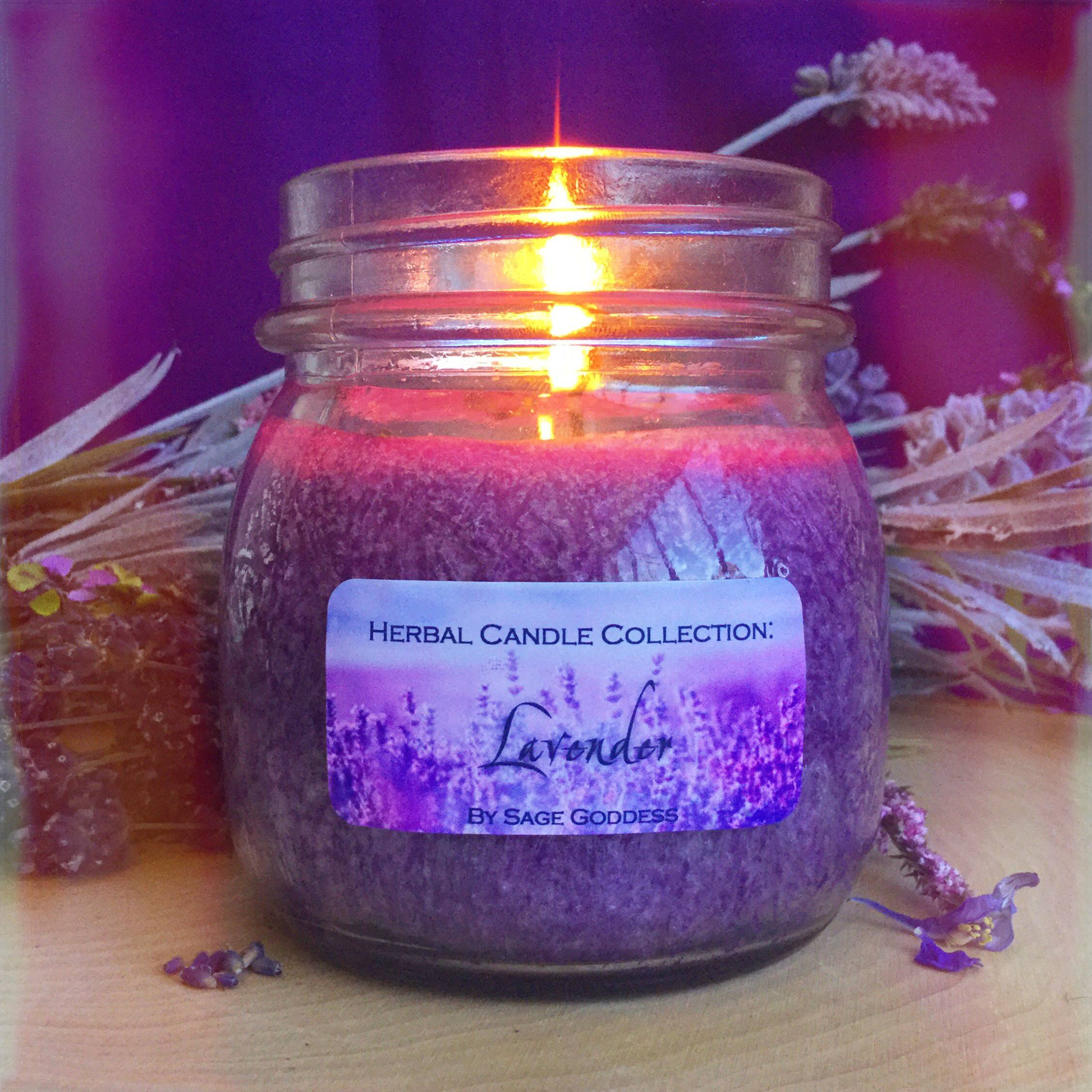 lavender herbal candle