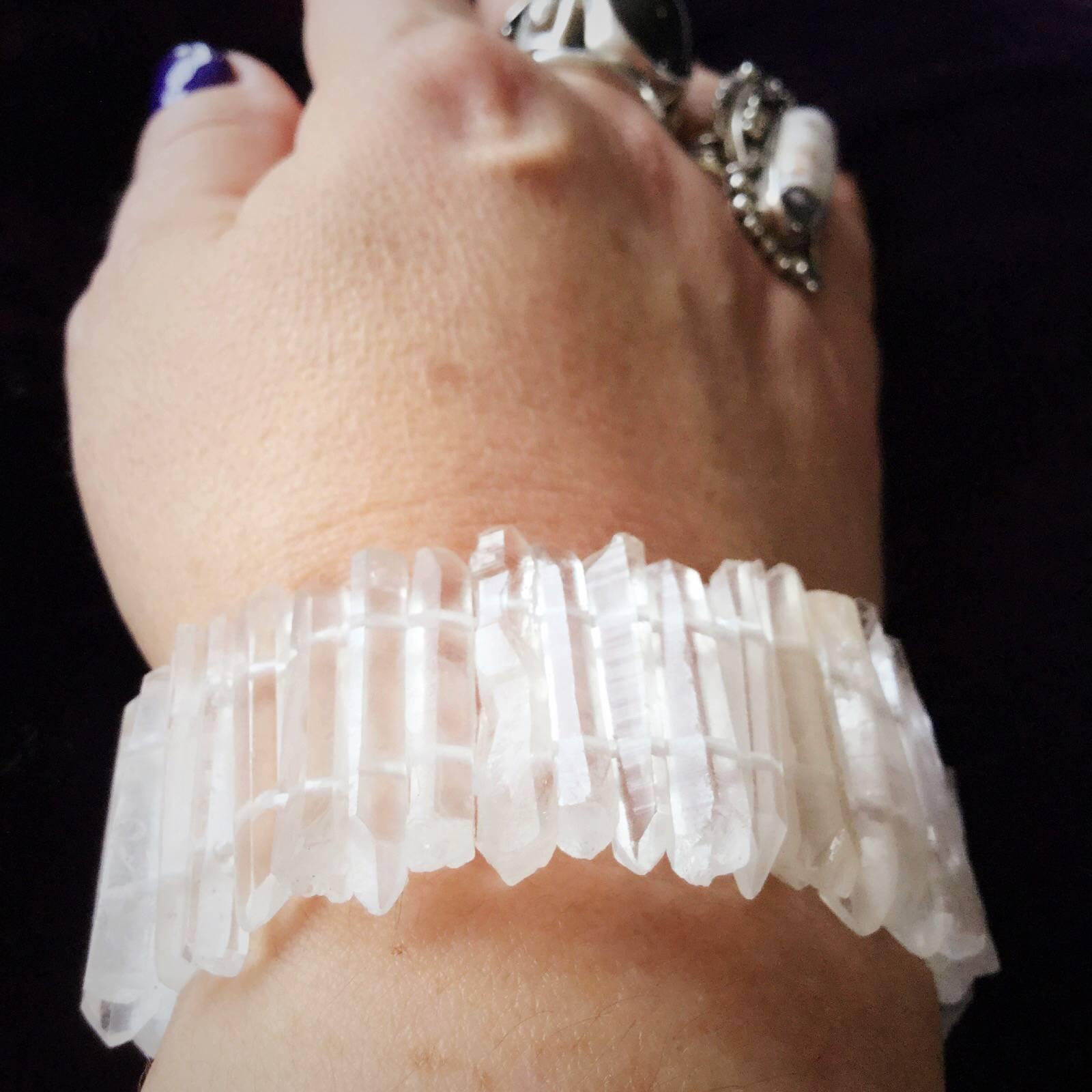 Double Terminated Clear Quartz Bracelets