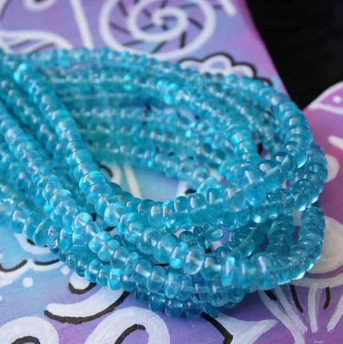 Sky Blue Apatite necklaces