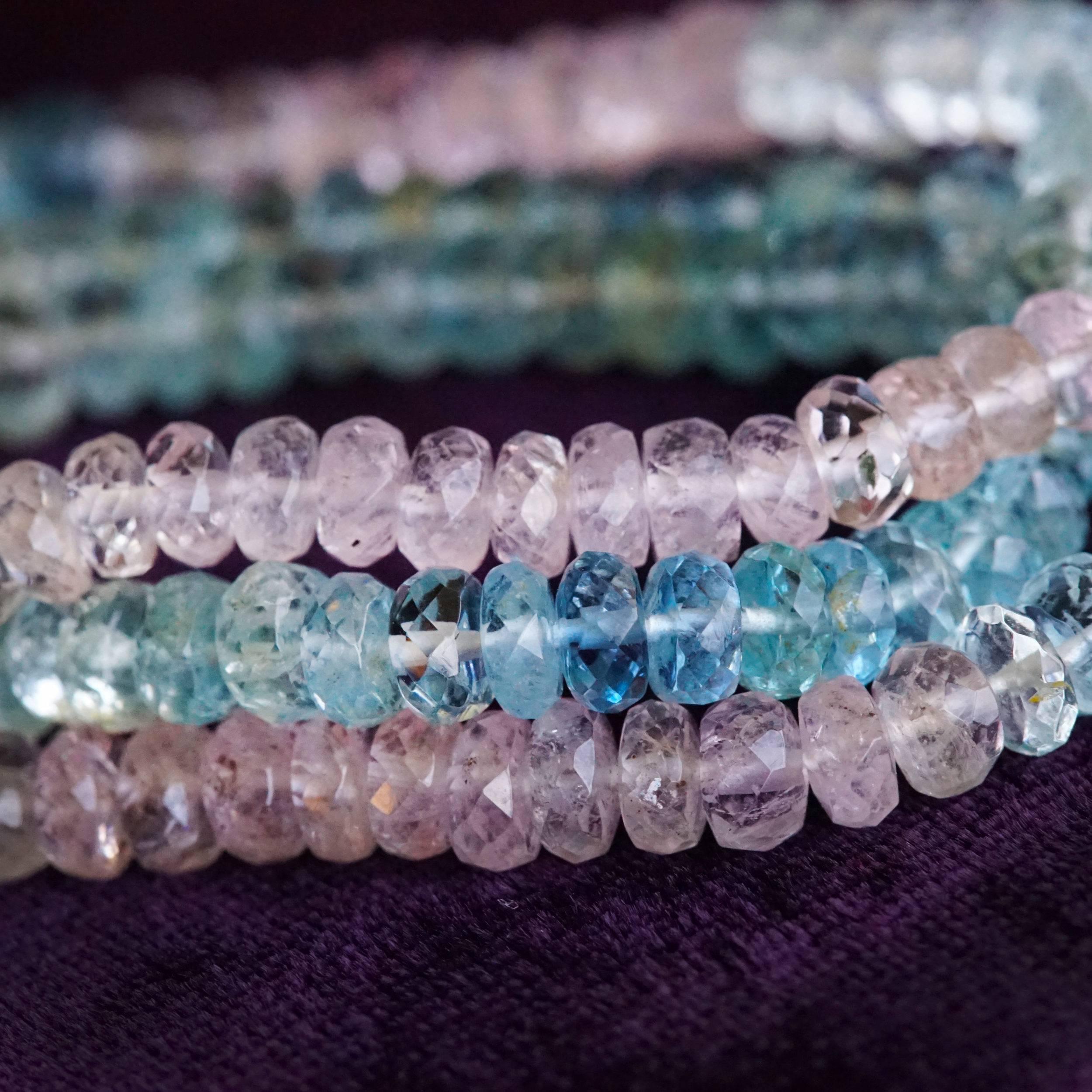 aquamarine morganite necklaces