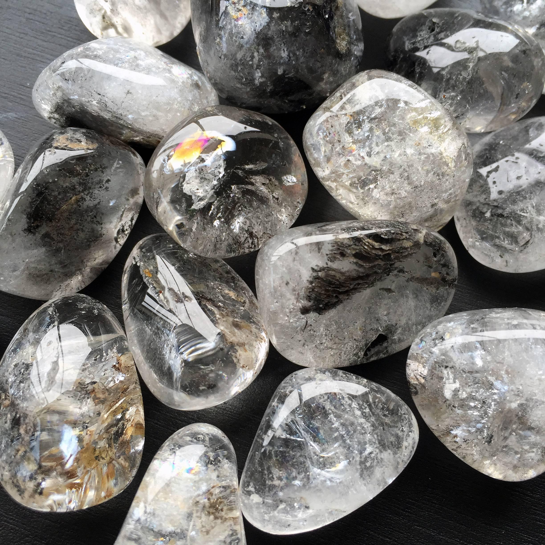 tumbled Tibetan quartz