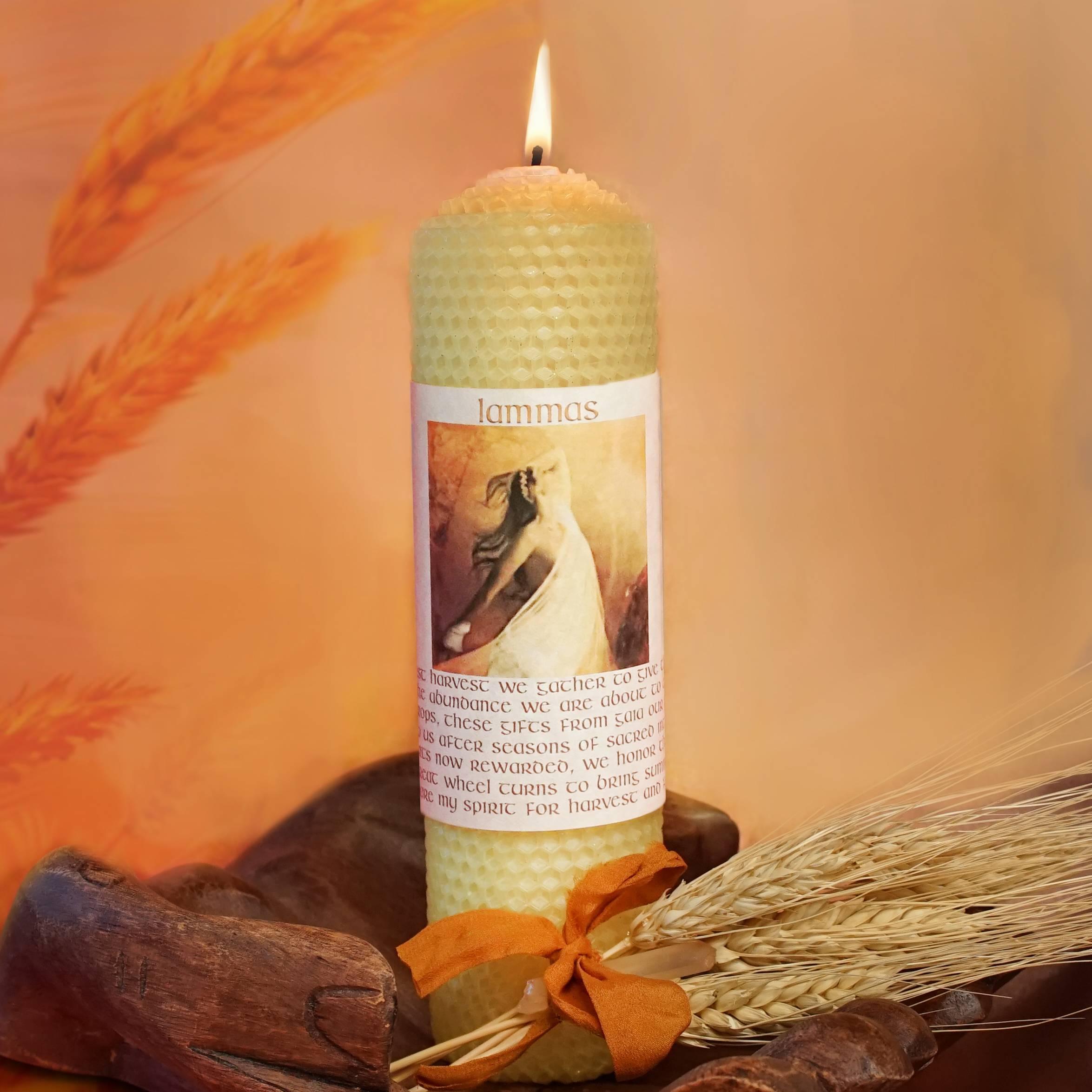 lammas ritual candle