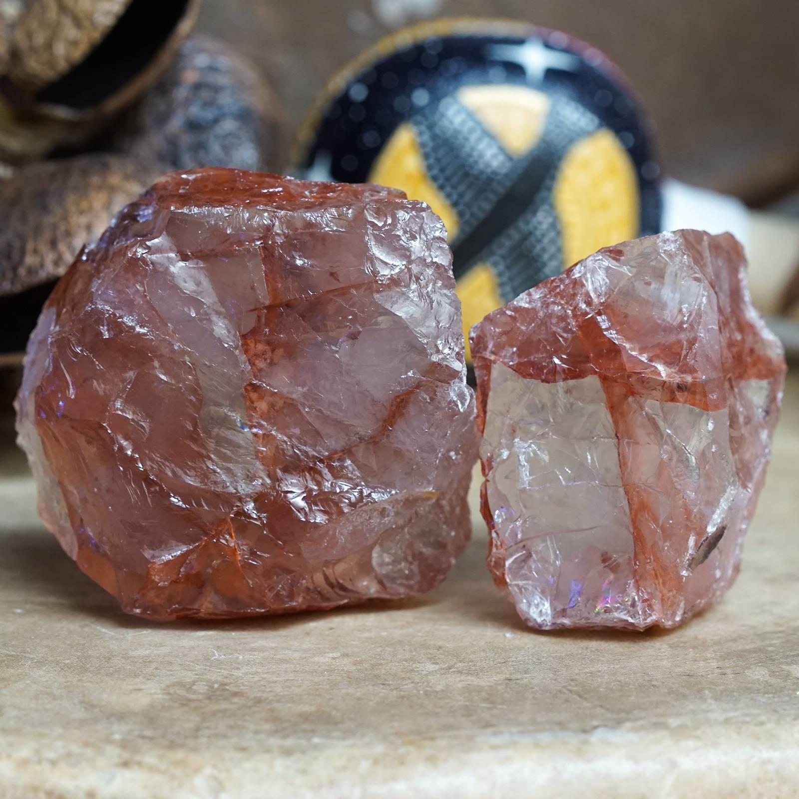 natural red hematoid quartz