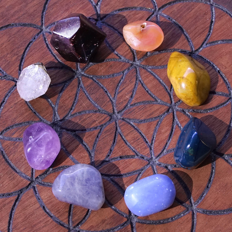 Crystal healing basics gem set