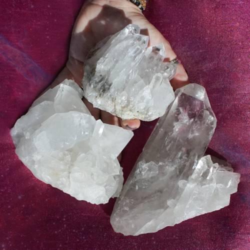 lemurian quartz clusters