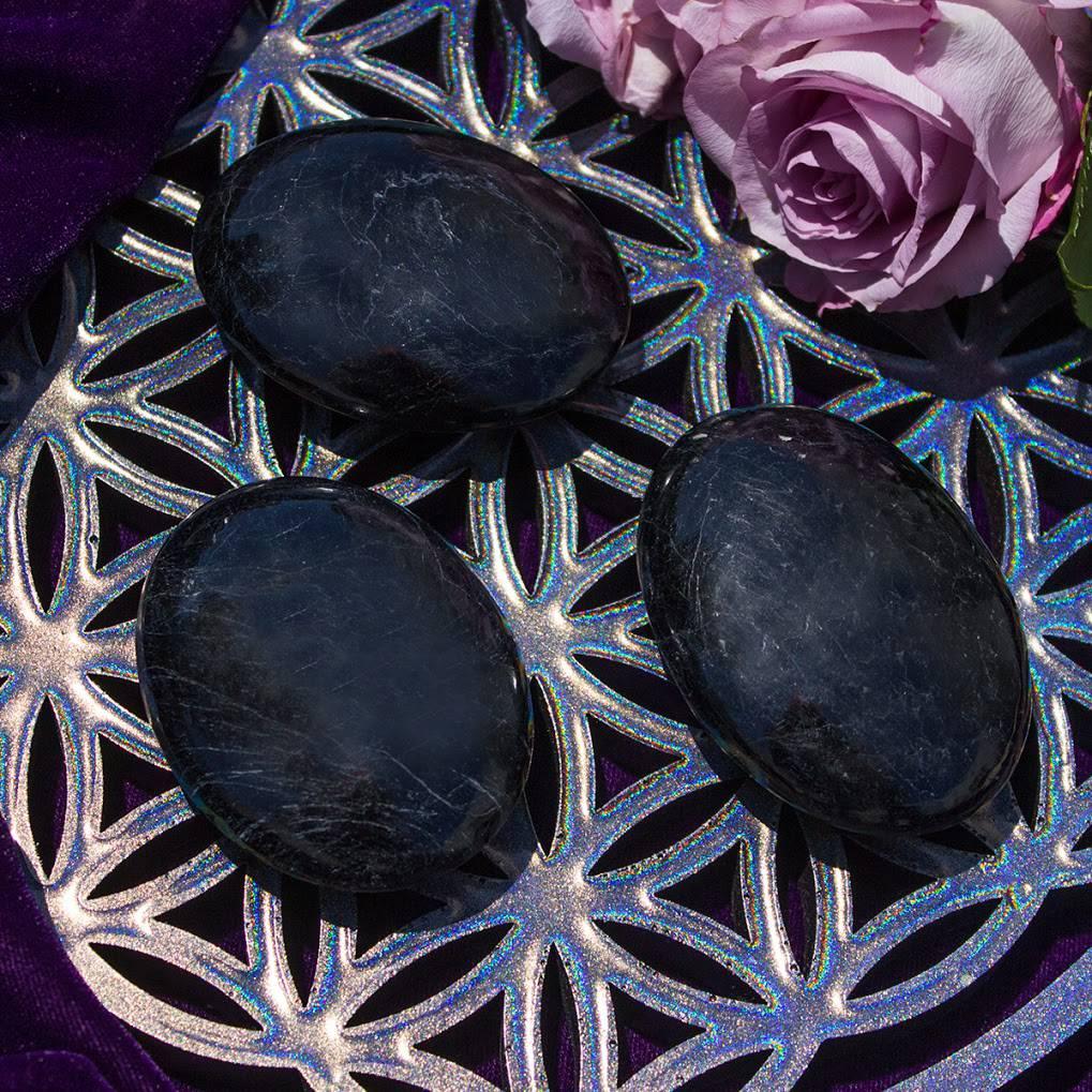 Black Tourmaline Palm Stones