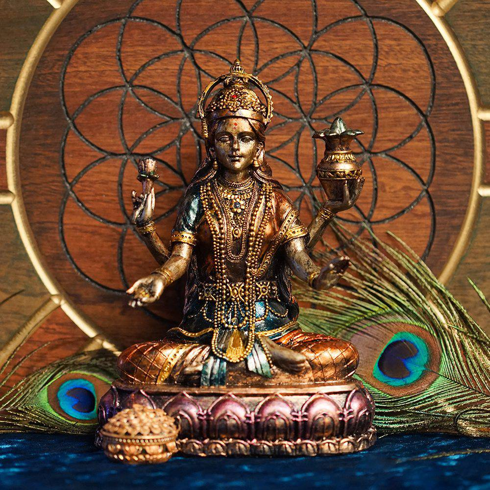Lakshmi statue to symbolize the four sacred pillars of being biocorpaavc Choice Image