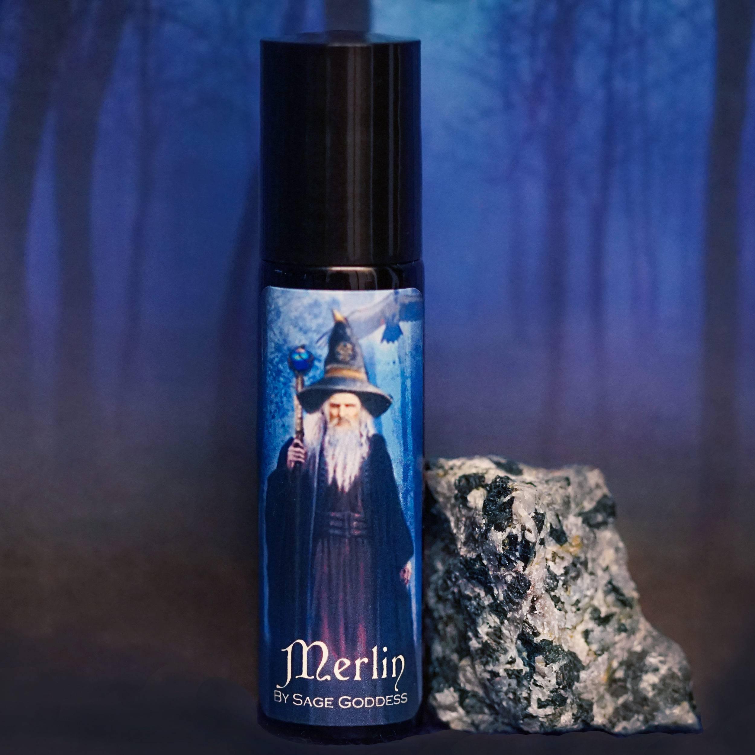 Merlin perfume with natural merlinite