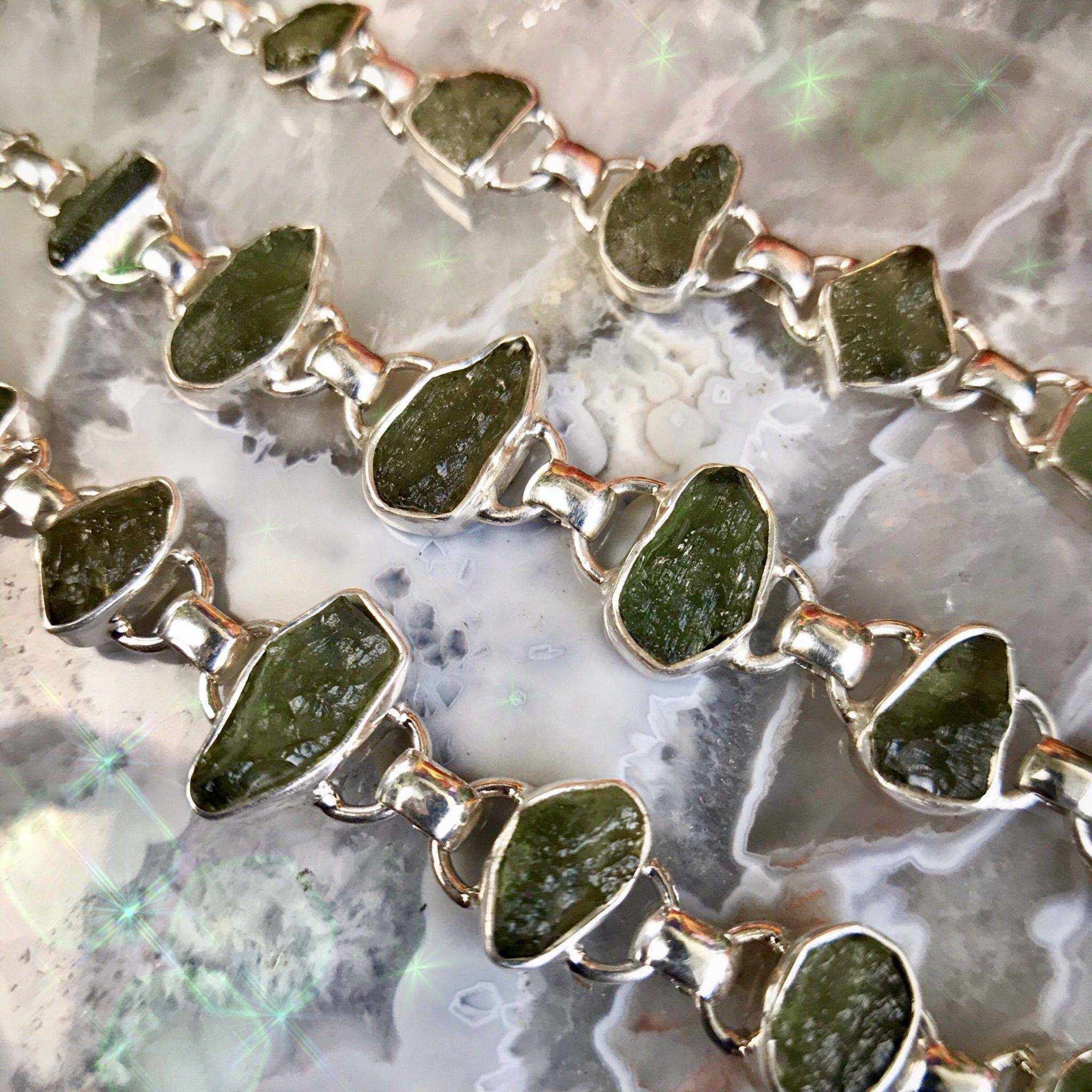 Genuine Moldavite Bracelets for powerful spiritual growth