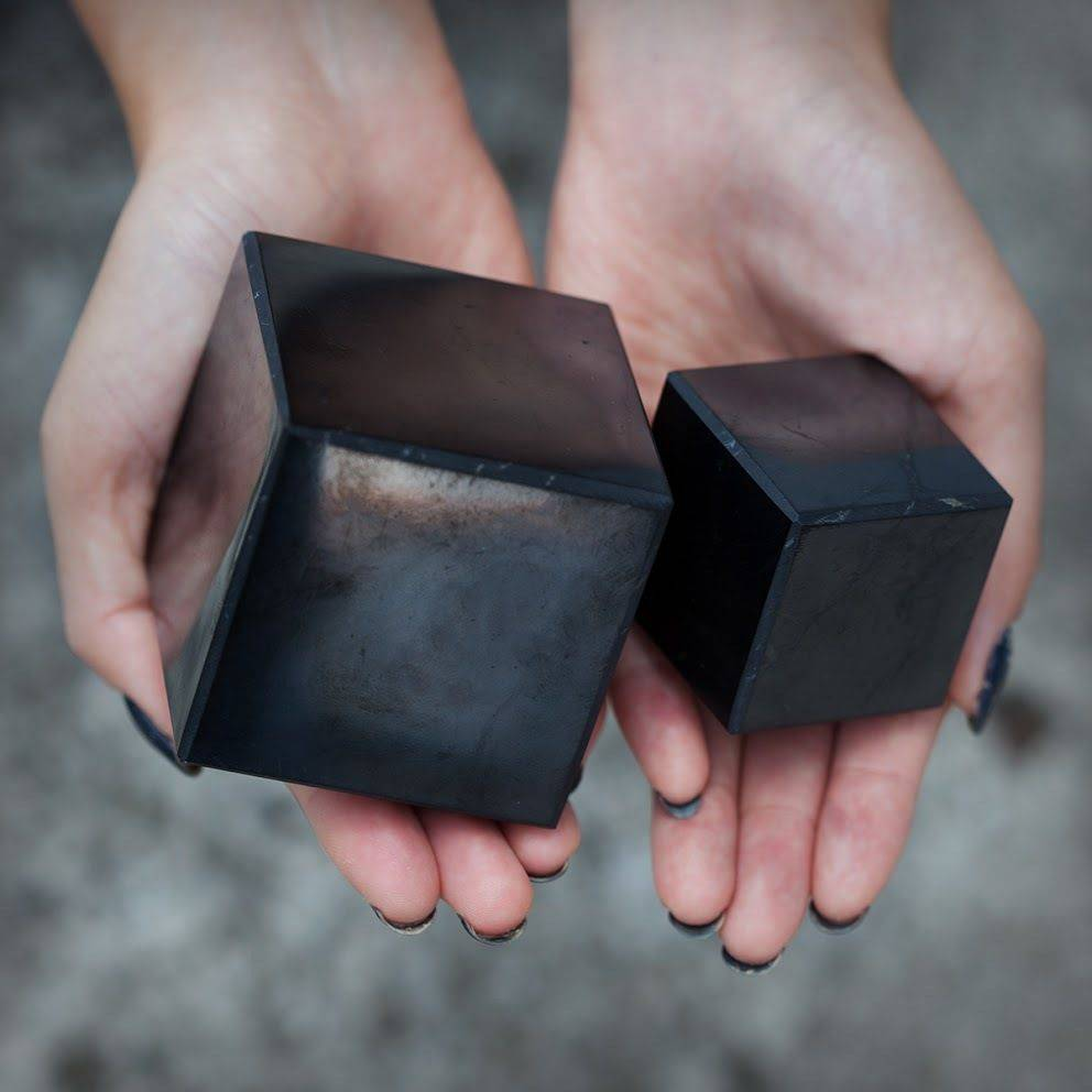 Shungite Cubes for sacred geometric protection and purification