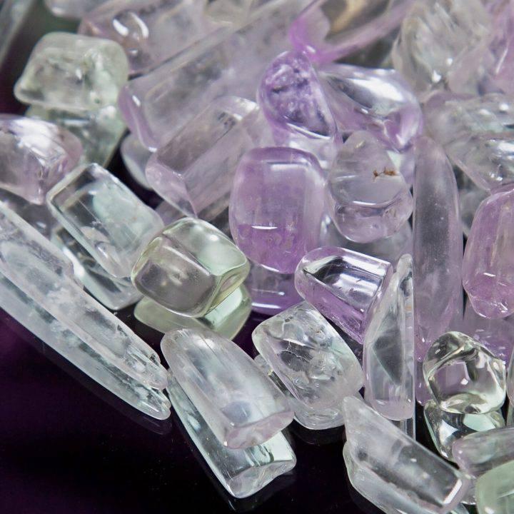 Tumbled Kunzite Crystals