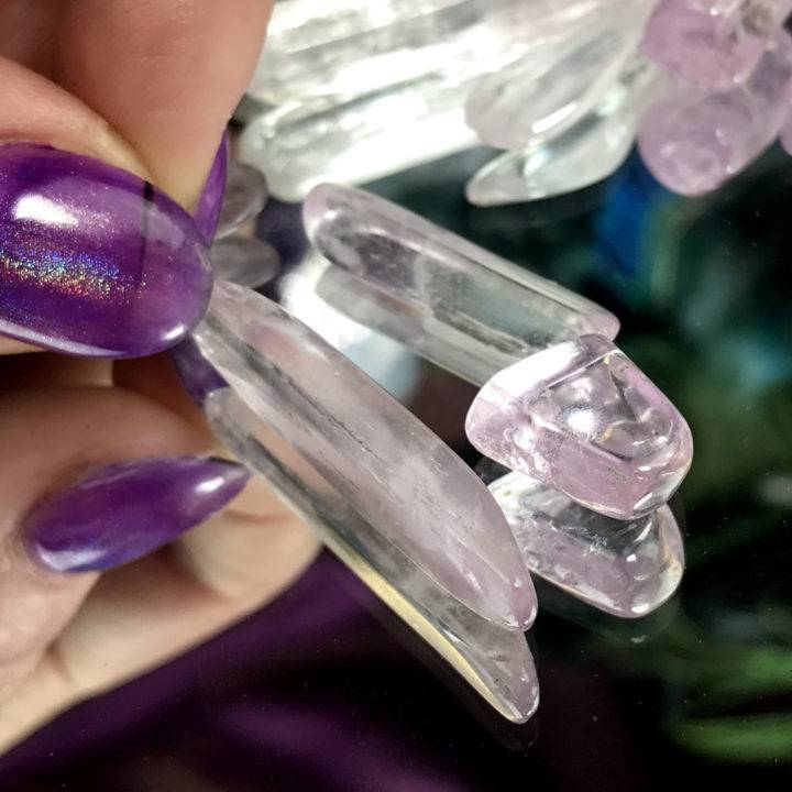 Tumbled Kunzite Crystals