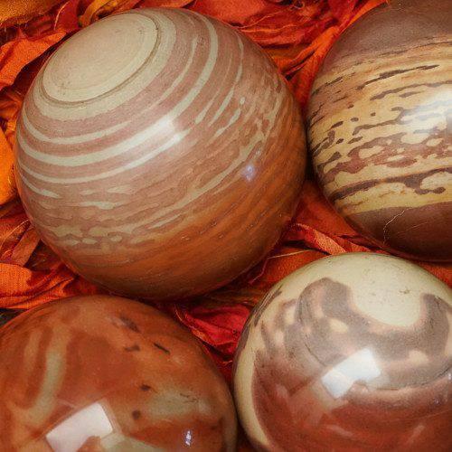 banded print jasper spheres