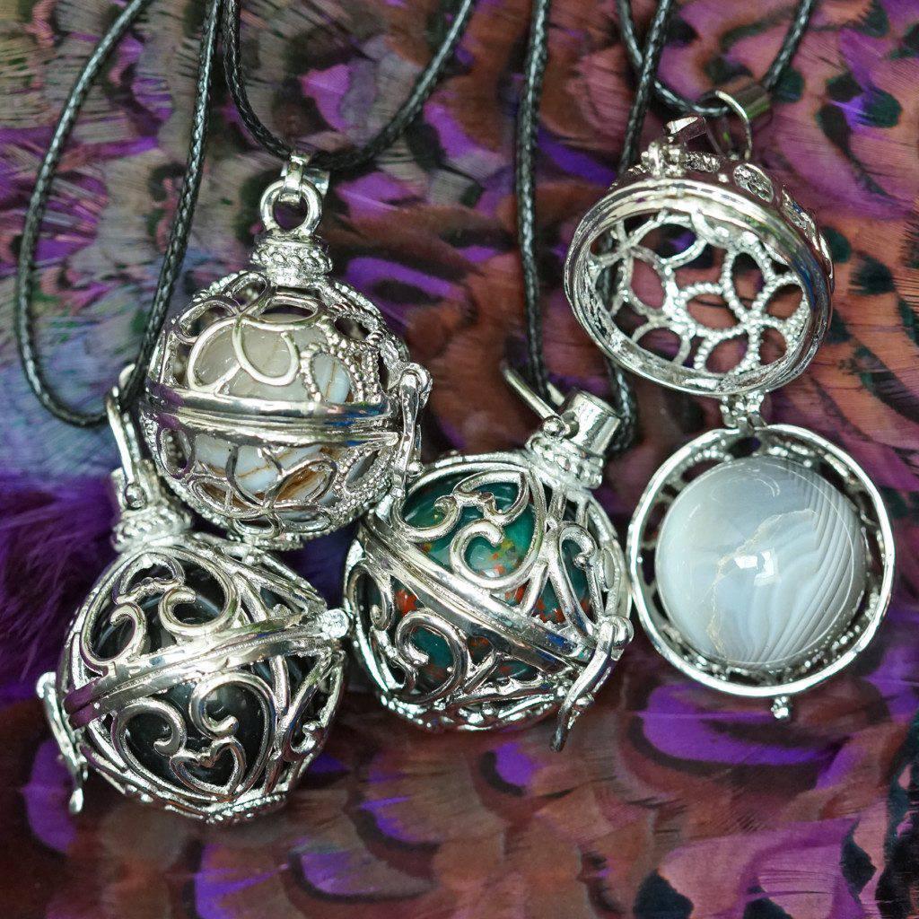 cage pendant necklaces