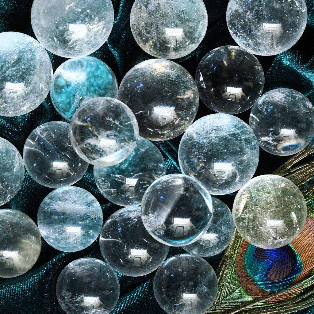 clear quartz spheres