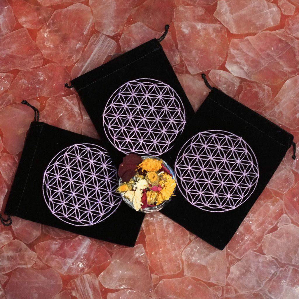 Flower of Life pouches