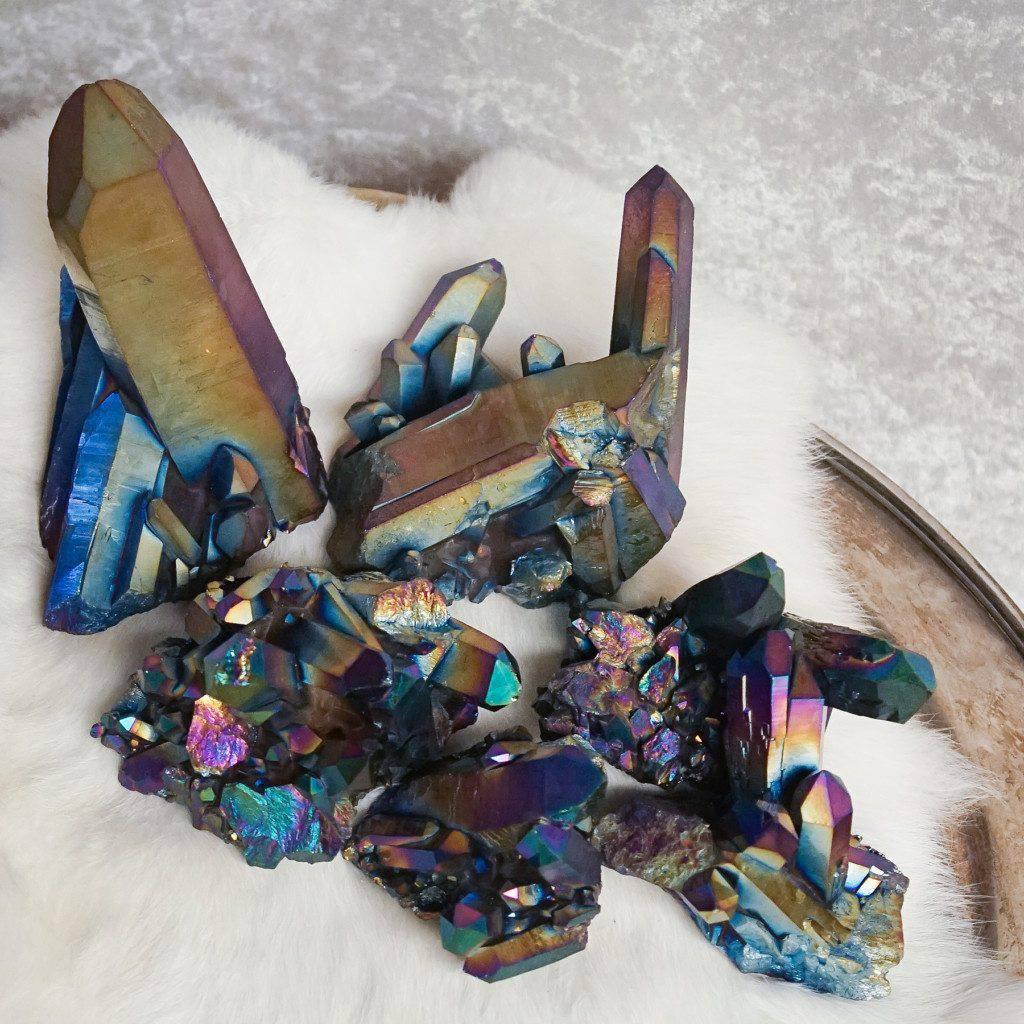titanium quartz clusters