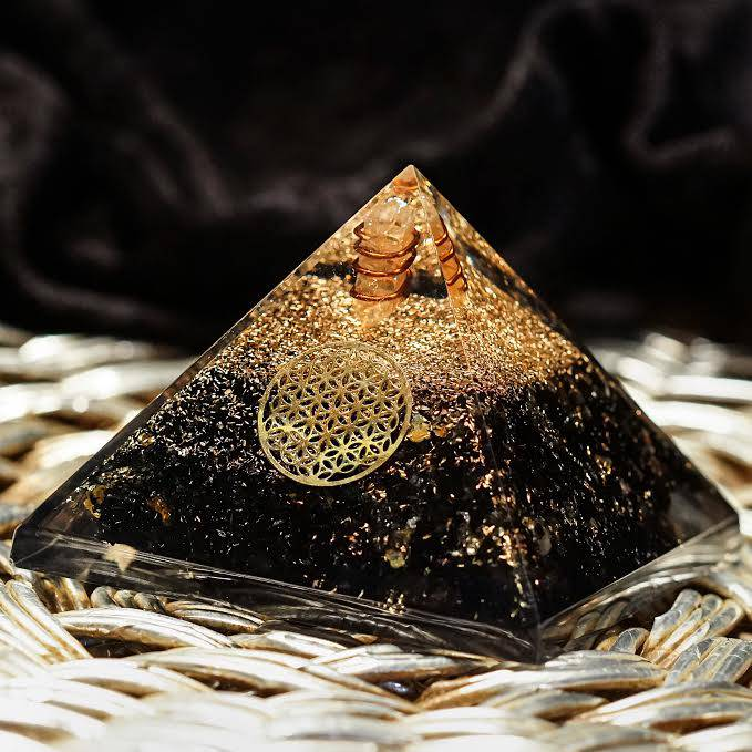 Black Tourmaline Orgonite Pyramids
