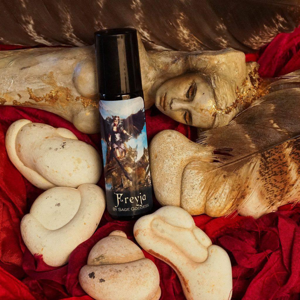 frejya perfume with goddess stone